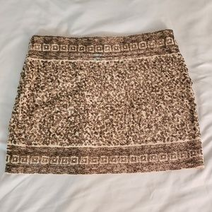 Express Gold Sequined Bodycon Mini Skirt Size XS